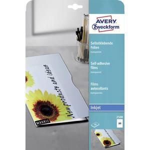 2500 Avery-Zweckform OHP Inkjetfolie 2500 Transparent DIN A4