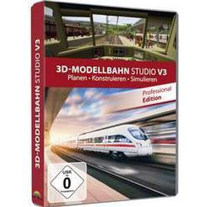 3D Modellbahn Studio Pro 3 Vollversion, 1 Lizenz Windows Modellbahn-Software