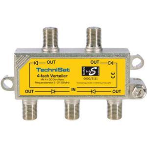 0000/3111 TechniSat SAT-Verteiler 4 Wege Verteiler 4-fach