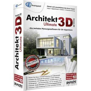 5146 Avanquest Architekt 3D X8 Ultimate Vollversion, 1 Lizenz Windows Planungs-Software