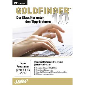 CD-8150 Goldfinger 10 - Der ultimative Tipp-Trainer Vollversion, 1 Lizenz Windows Lern-Software, 10-Finger-S