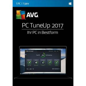 02861 AVG PC TuneUp 2017 Vollversion, 1 Lizenz Windows Systemoptimierung