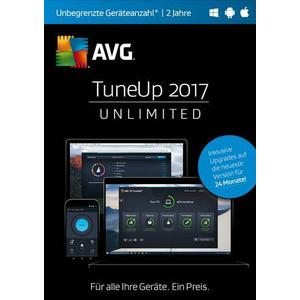 02852 AVG TuneUp Unlimited 2017 Vollversion, unbegrenzte Geräteanzahl Windows, Android, Mac Systemoptimie