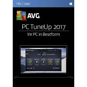 02863 AVG PC TuneUp 2017 Vollversion, 1 Lizenz Windows Systemoptimierung