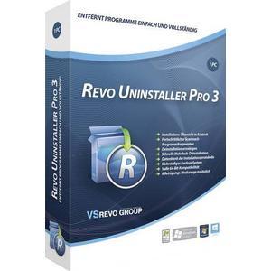 03027 Revo Uninstaller Pro 3 Vollversion, 1 Lizenz Windows Systemoptimierung