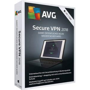 03089 AVG Secure VPN 2018 Vollversion, 1 Lizenz Windows Sicherheits-Software