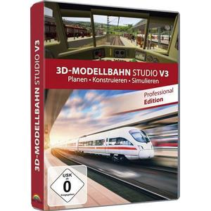 1619881 3D Modellbahn Studio Pro 3 Vollversion, 1 Lizenz Windows Modellbahn-Software
