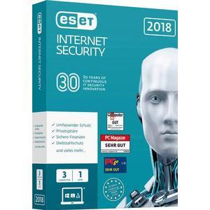 1024105 ESET Internet Security 2018 Edition Vollversion, 3 Lizenzen Windows Antivirus, Sicherheits-Software
