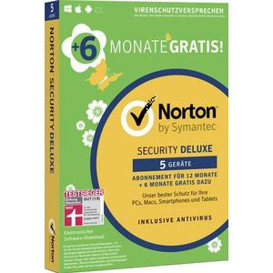 21382280 Symantec Norton Security Deluxe 3.0 Vollversion, 5 Lizenzen Windows, Mac, iOS, Android Sicherheits-S