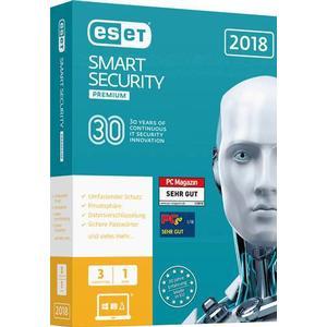 1024107 ESET Smart Security Premium 2018 Vollversion, 3 Lizenzen Windows Antivirus, Sicherheits-Software