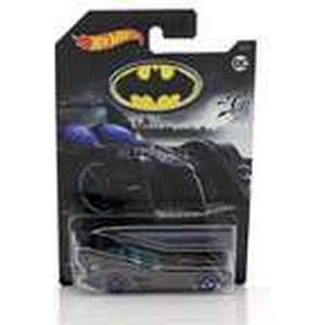 Hot Wheels Batmobile DC Comics grau metallic mit blauen Rädern 1:64, Modellfahrzeug