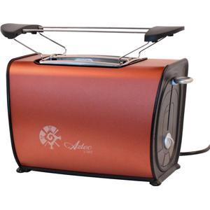 2 Scheiben Toaster in Kupferfarben mit Brötchenaufsatz