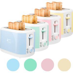 2-Scheiben Toaster mit Brötchenaufsatz und Krümelschublade