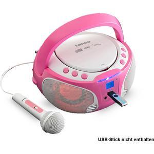 Karaoke Mädchen Stereoanlage mit CD-Player und Lichteffekt