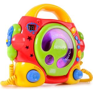 Karaokeanlage Kinder portabler Karaoke CD Player +2 Mikrofone Denver TCK-50 multi