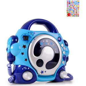 Kinder Karaoke CD Player mit 2 Mikrofonen und Stern Sticker
