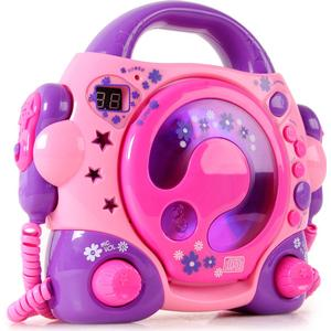 Karaokeanlage Kinder portabler Karaoke CD Player +2 Mikrophone BigBen CD 47