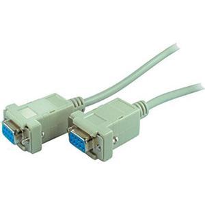 1,8m Null-Modem-Kabel mit 2 x 9-pol.D-Sub Buchsen