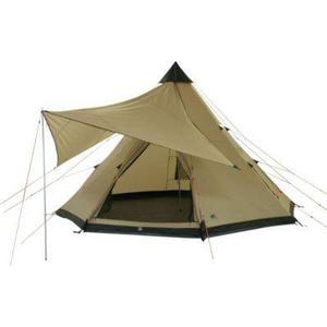 10T Camping-Zelt Shoshone 400 Tipi mit Schlafbereich für 4 - 8 Personen Outdoor Idianerzelt Familienzelt mit Wohnraum, Sonnensegel, eingenähte Bodenwanne, wasserdichtes Pyramidenzelt mit 5000mm Wassersäule