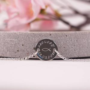 925 Silberarmband mit Gravur Kommunion