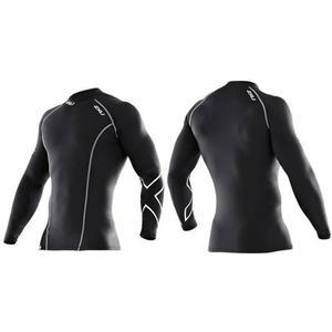 2XU Men LS Compression Top XFORM Langarm Shirt Herren ,Farbe: black, Größe: XS