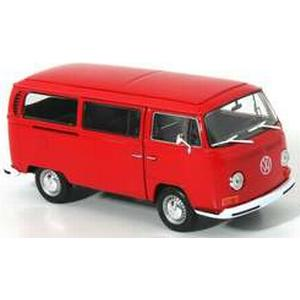 1:24 Modellauto Welly VW Bus T2 1972 rot