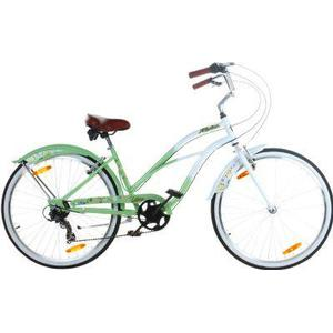 26 Zoll Beachcruiser Viking Retro Ladies Fahrrad Cruiser 2... Grün