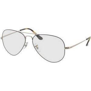 Brille24 GmbH Aviator RX6489 2970 Gr. 57-14 in silver on top blue
