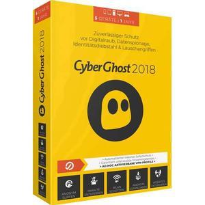 03072 S.A.D. CyberGhost 7 Vollversion, 5 Lizenzen Windows Sicherheits-Software