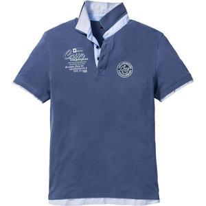 bpc selection Poloshirt mit doppeltem Kragen kurzer Arm in blau für Herren von bonprix