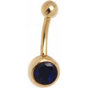 18 Karat Gold Bauchnabel Piercing