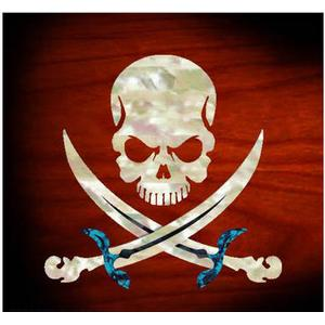 Jockomo Pirate Skull Sticker