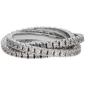 Esprit 3 teiliger Fingerring 925 Silber Brilliance Triple ESRG91885B Ringe silber Damen Gr. 56