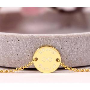 925 Silberarmband vergoldet mit persönlicher Gravur Namensarmband