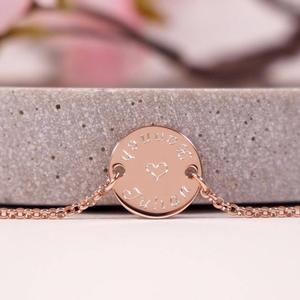 925 Silberarmband rosévergoldet mit persönlicher Gravur Namensarmband