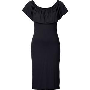 BODYFLIRT Shirtkleid kurzer Arm in schwarz (Carmen-Ausschnitt) von bonprix