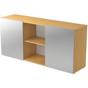 hjh OFFICE PRO Kapa 1780 | Sideboard | mit Schwebetüren