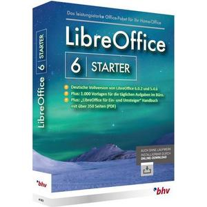 1027567 BHV Verlag LibreOffice 6 Starter Vollversion, 1 Lizenz Windows Office-Paket