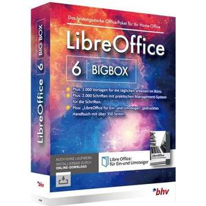 1027568 BHV Verlag LibreOffice 6 BigBox Vollversion, 1 Lizenz Windows Office-Paket