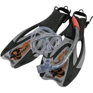 Aqua Lung Pro ADJ Flossenset Schnorchelset Tauchset Maske Schnorchel Flossen