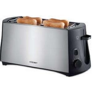 3719 Toaster für 4 Toastscheiben integrierter Brötchenaufsatz (Schwarz, Edelstahl) (Versandkostenfrei)