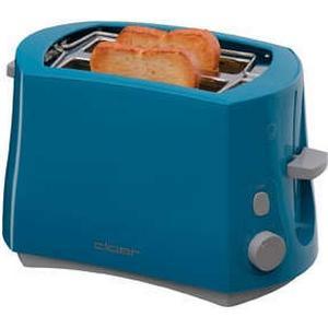 3317-3 Toaster 825W integrierter Brötchenaufsatz Stopptaste (Blau)