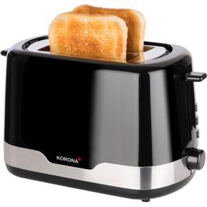 21232 Automatik-Toaster 850W Auftau- und Aufwärmstufe (Schwarz, Edelstahl)