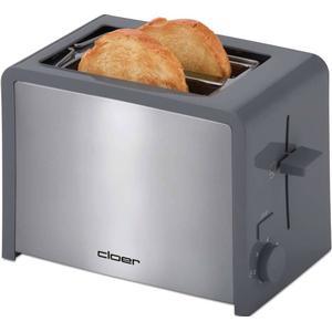 3215 London Toaster integrierter Brötchenaufsatz (Grau, Edelstahl) (Versandkostenfrei)