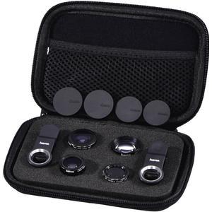 00044339 5in1-Objektiv-Set ´´Uni´´ MC für Smartphones und Tablets (Schwarz)