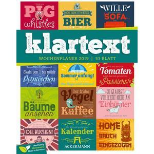 Ackermann Kunstverlag Klartext Sprüche - Wochenplaner 2019