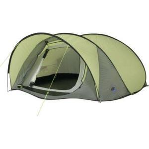 10T Camping-Zelt Maxi Pop 3 Pop-Up Wurfzelt mit Schlafkabine für 3 Personen Automatik-Zelt mit Vordach, eingenähter Bodenwanne, Dauerbelüftung, wasserdicht mit 5000mm Wassersäule