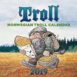 Aune Forlag Troll-Tischkalender Lidberg 2020 - 16 x 16 cm - Aune