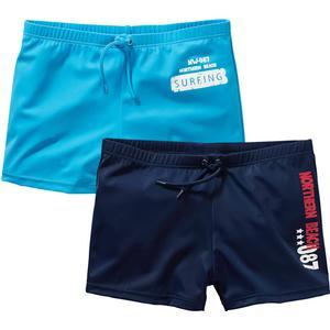 bpc bonprix collection Badehose Jungen (2er-Pack) in blau für Jungen von bonprix