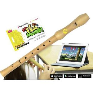 1129 Voggenreiter Blockflöte Flute Master Barock Bergahorn